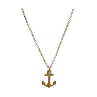 Gold Anchor Necklace4