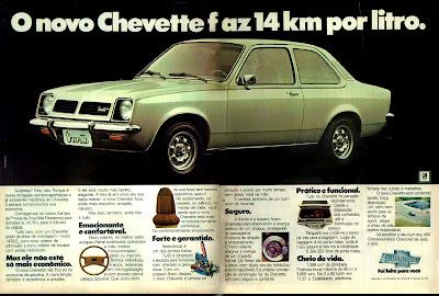 propaganda Chevette - 1977.  propaganda anos 70. propaganda carros anos 70. reclame anos 70. Oswaldo Hernandez..