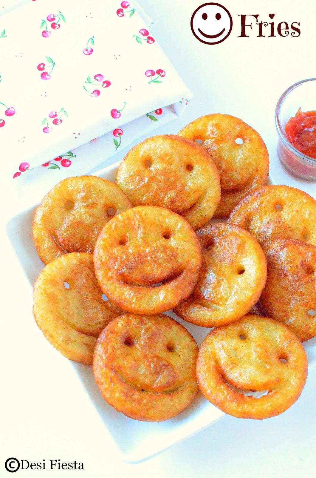 Fried Smiley Potato Fries Recipes