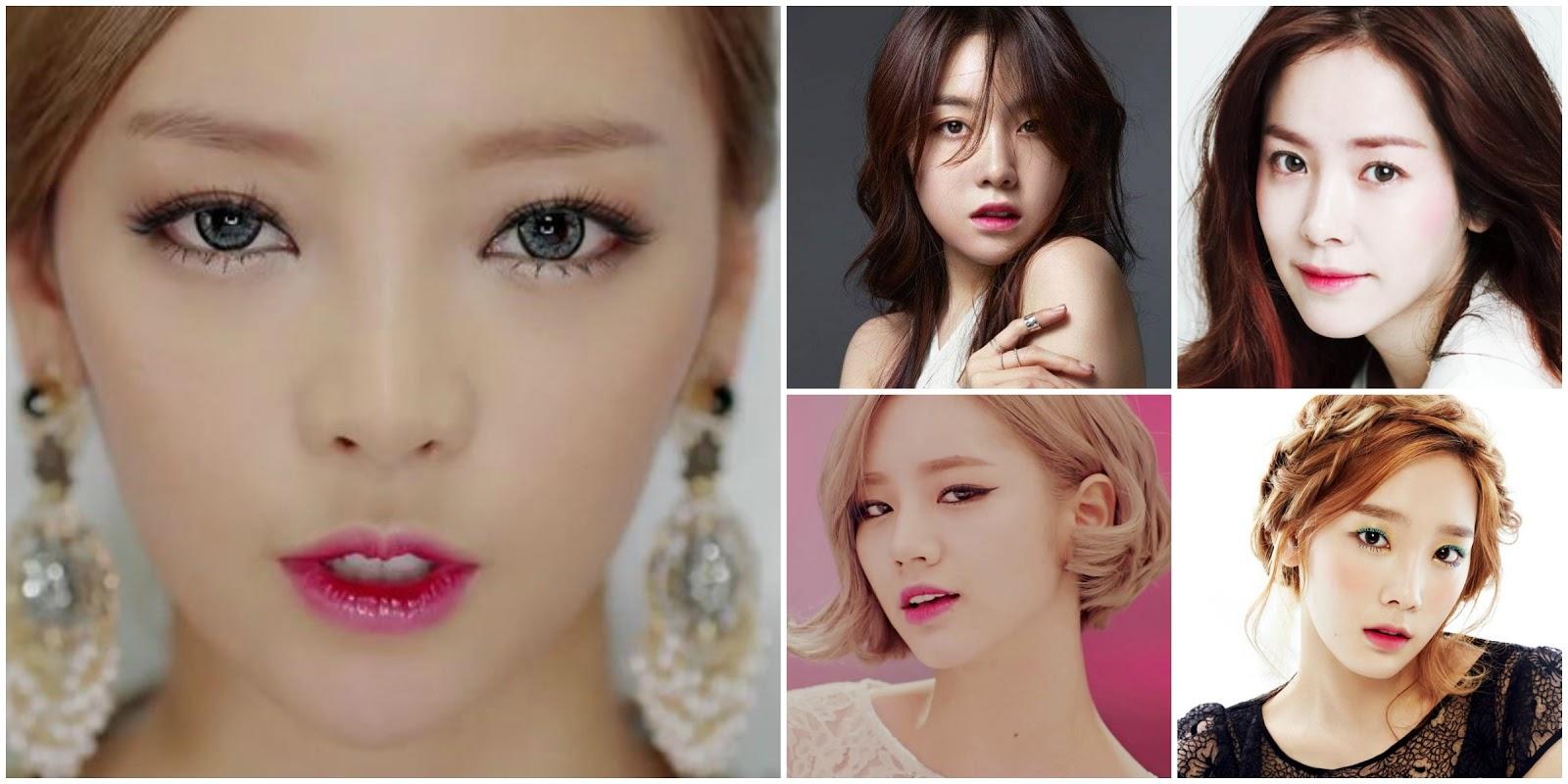 Макияж для кореянок фото до и после