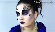Especial Halloween 2012Makeup Viúva Negra