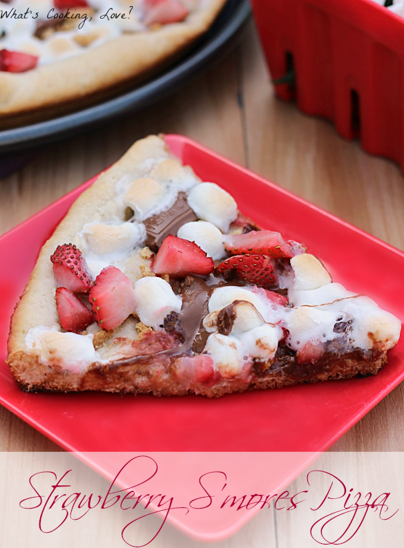 Strawberry S'mores Pizza