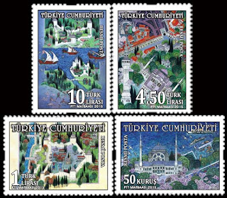 miniature themed official postage stamps