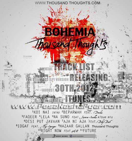 free download bohemia's latest album thousand thoughts