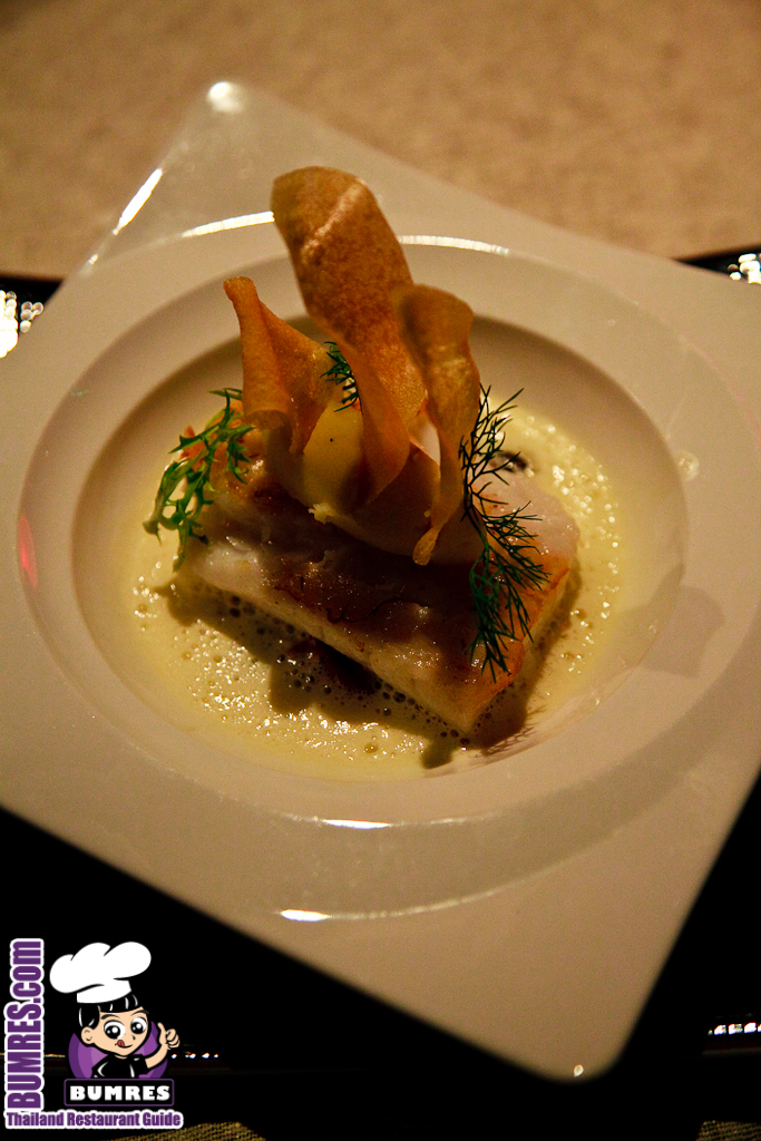 tasty greatbest. The main courses were the Halibut with Crisp Potato skin  1355 Baht and New Zealand Lamb Shank 1 055 I wasn t so familiar this fish at Restaurant Review Bangkok mostly All Around World Red