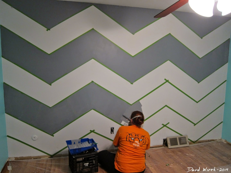 Wall Paint Patterns Using Tape