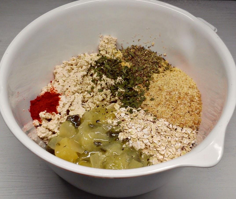 Hamburguesa Fácil de Tofu y Avena, Preparacion