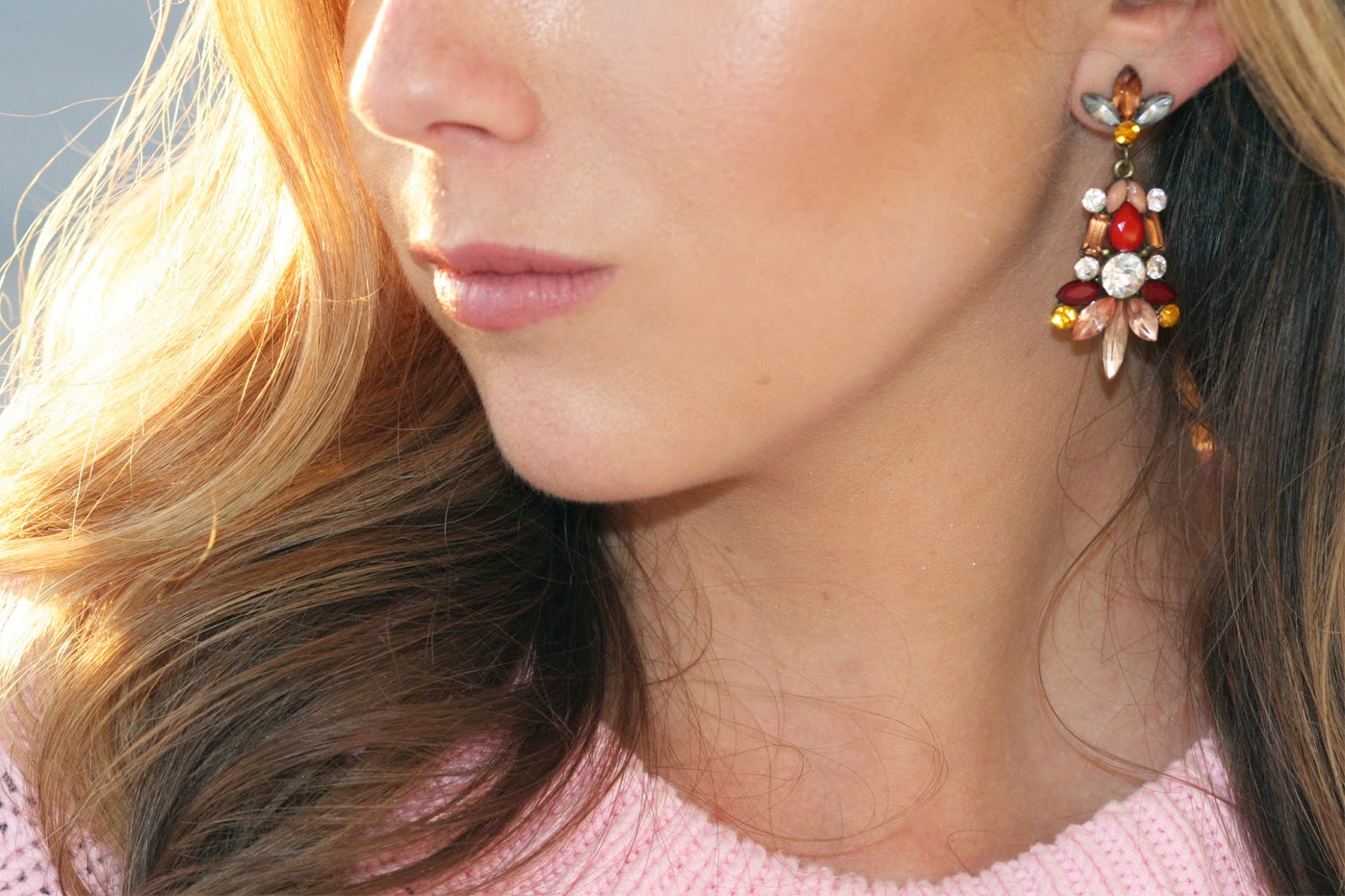 burgundy-maroon-pink-yellow-and-gold-statement-earrings