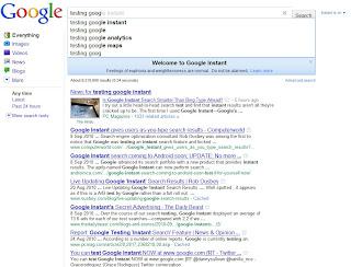 Google Instant Search mempercepat pencarian di Search Engine Google Google Instant Search mempercepat pencarian di Search Engine Google