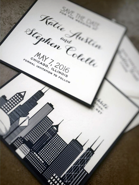 Navy and White Chicago Wedding