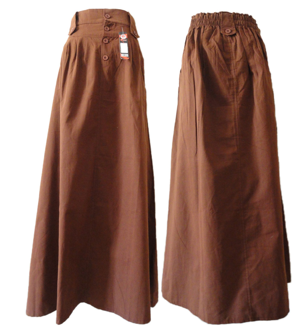 hijabers central leeya high waist maxi skirt