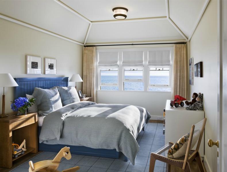 Coastal beach house bedroom