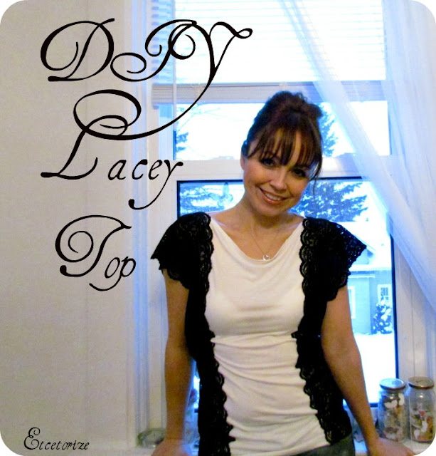 DIY Lace top, DIY shirt, how to add lace, deconstructed clothing, refashion