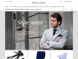 Ecommerce Website : Steve & Co.