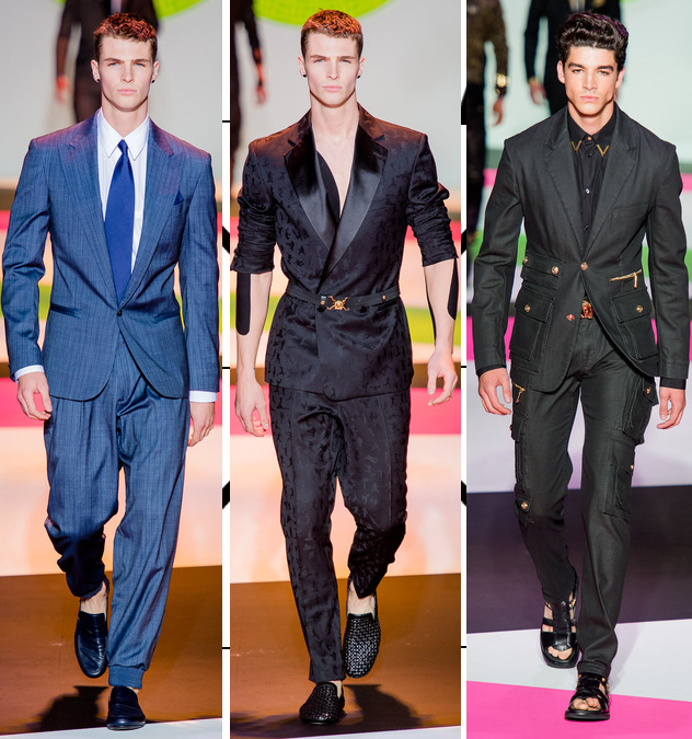 versace mens spring 2014 suits