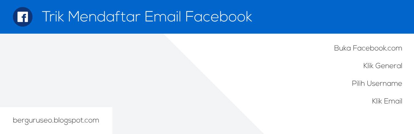 Trik Mendaftar Email Facebook Gambar Langkah Membuatnya