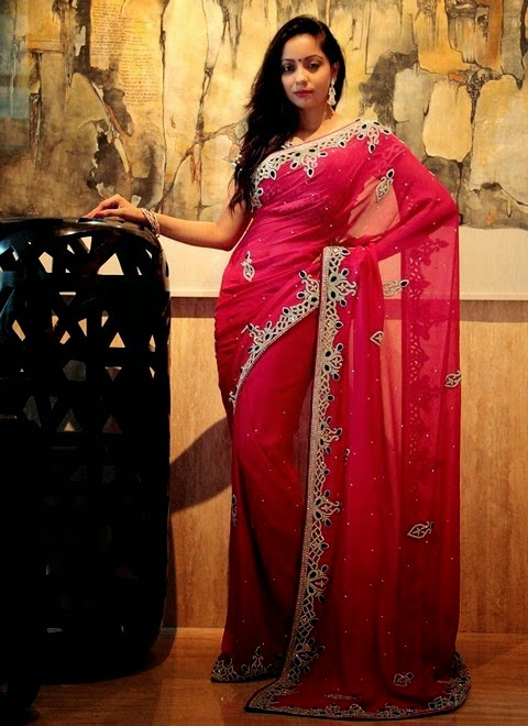 Fancy Eid Saree Collection 2014