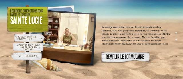 Tom Tom: gagnez 10000€ et passez 2 semaines sur une île paradisiaque bon plan voyage job de reve