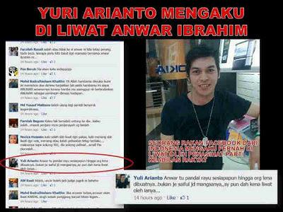 Yuri Arianto mengaku diliwat Anwar Ibrahim