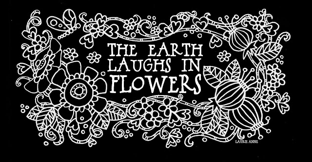 The Earth Laughs In Flowers Quote Printable Illustrated Art