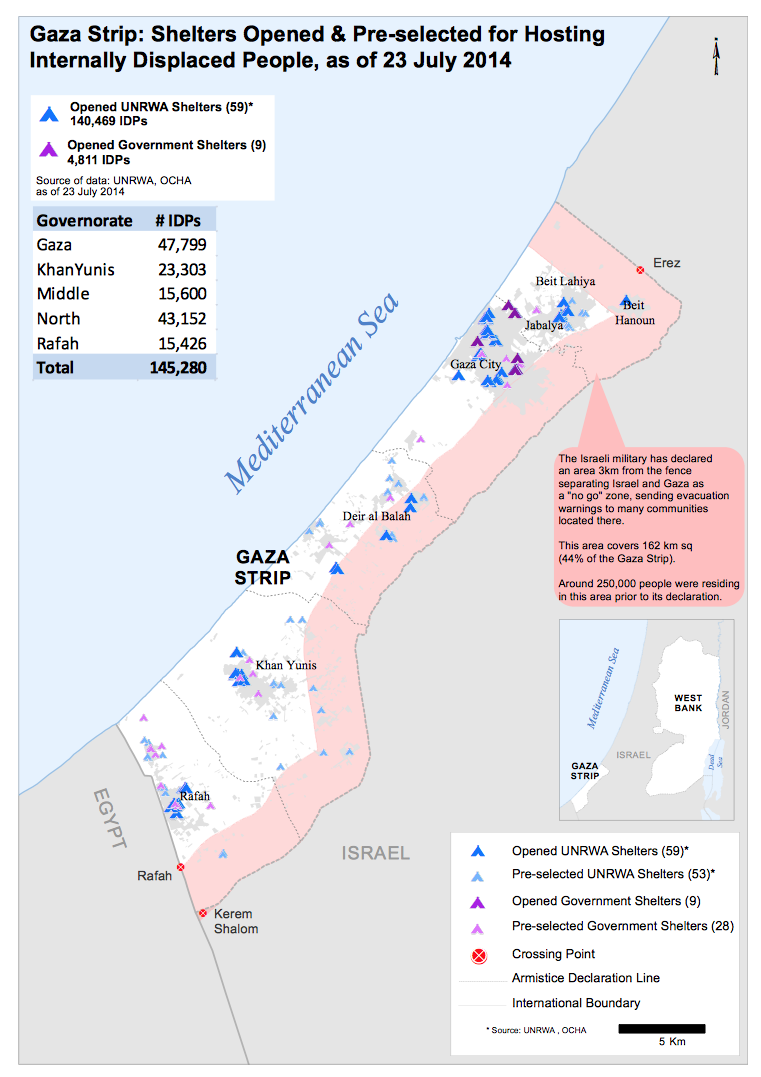 The Shrinking and Crowded Gaza Strip