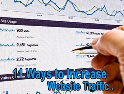 different ways to increase site/blog's traffic