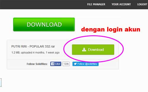 link download dengan LOGIN AKUN