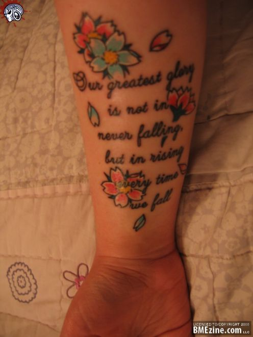 tattoo quotes about strength. tattoo quotes on girls.
