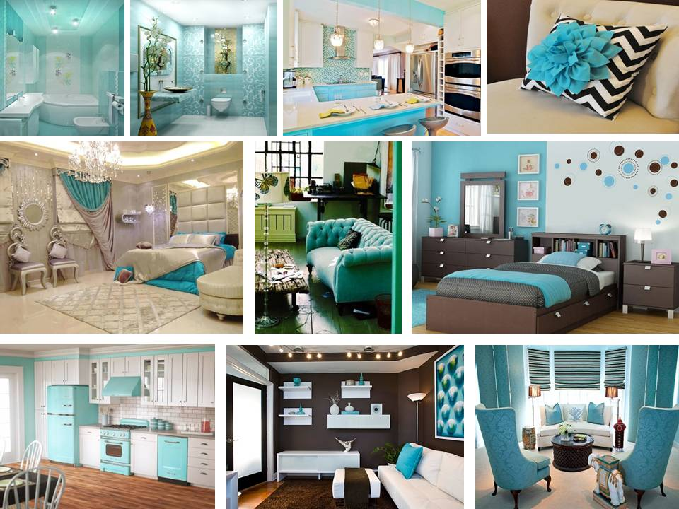 Brilliant Turquoise Interior designs