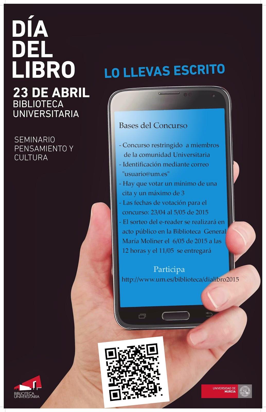 """Concurso Día del Libro 2015: """"Lo llevas escrito"""""""