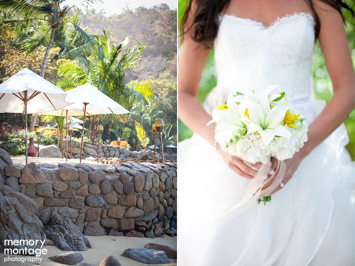 Las Caletas Puerto Vallarta Mexico Destination wedding photo getting ready morning bridal suite
