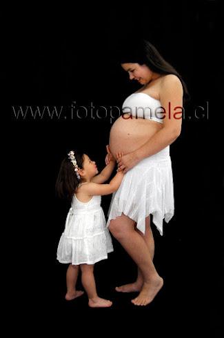 embarazada foto estudio hija