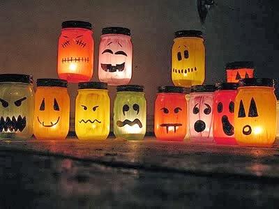 Manos a la obra como decorar frascos para halloween - Como decorar halloween ...