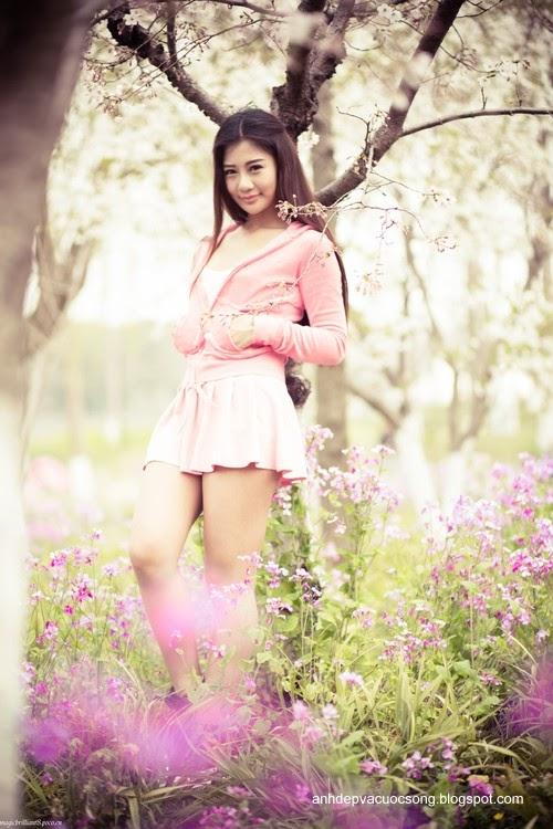Váy hồng xinh xắn 5