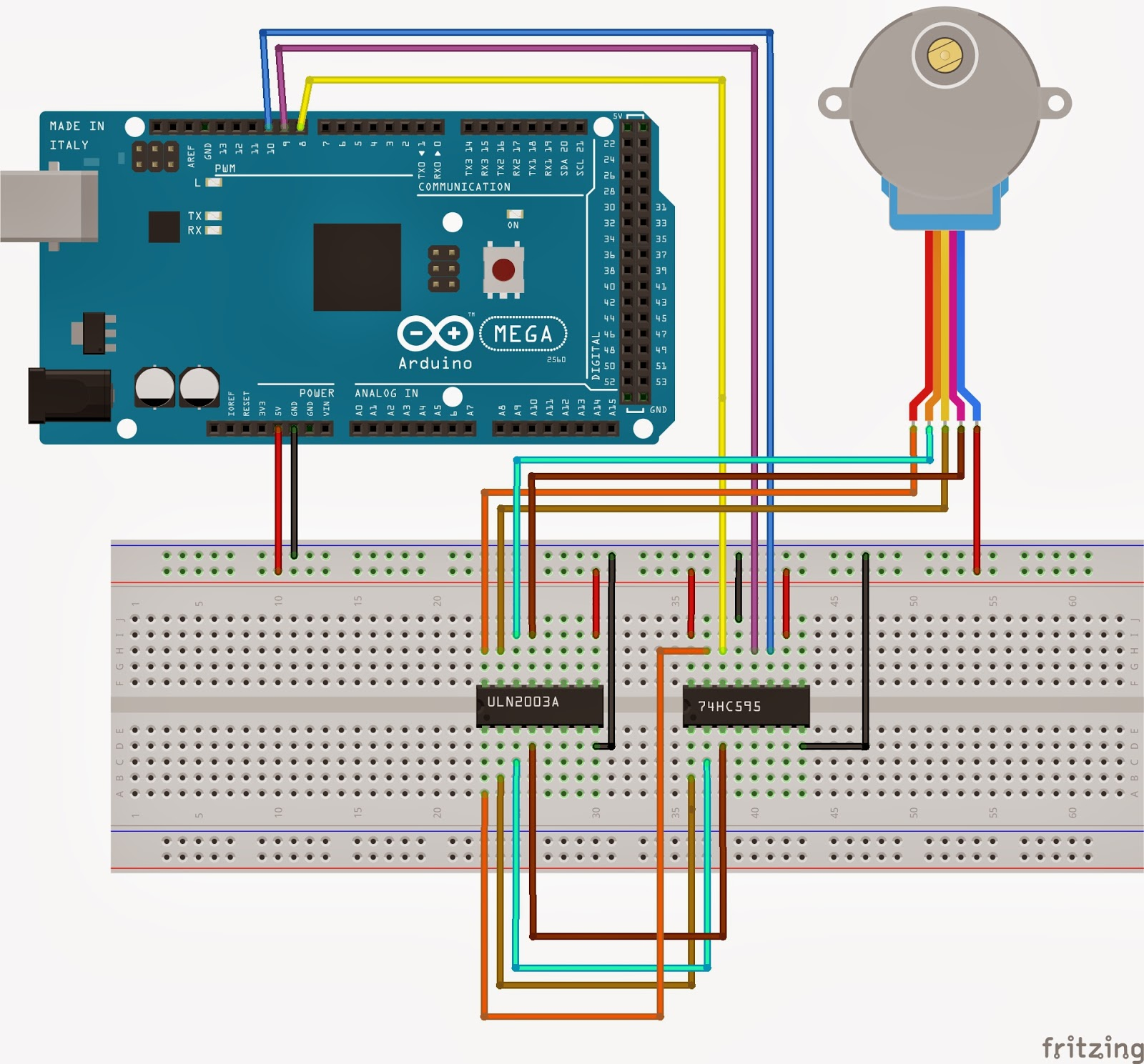 Projects from Tech: Arduino Shift Register Stepper Motor Controller