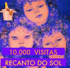 SELO COMEMORATIVO DE MAIS DE 10.000 VISITANTES AO RECANTO DE SOL.