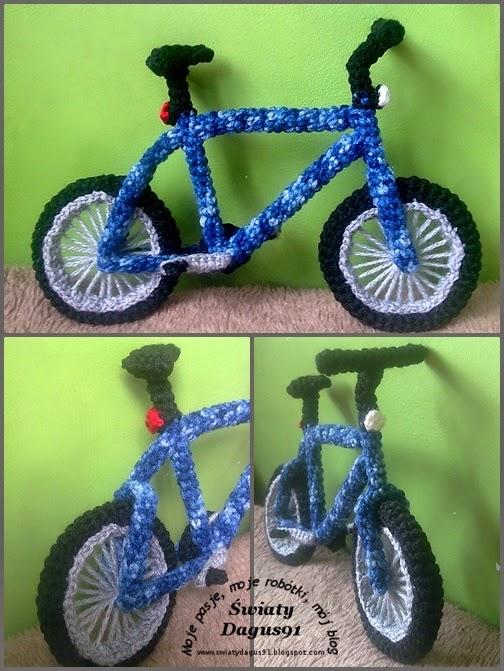 szydełkowy rower