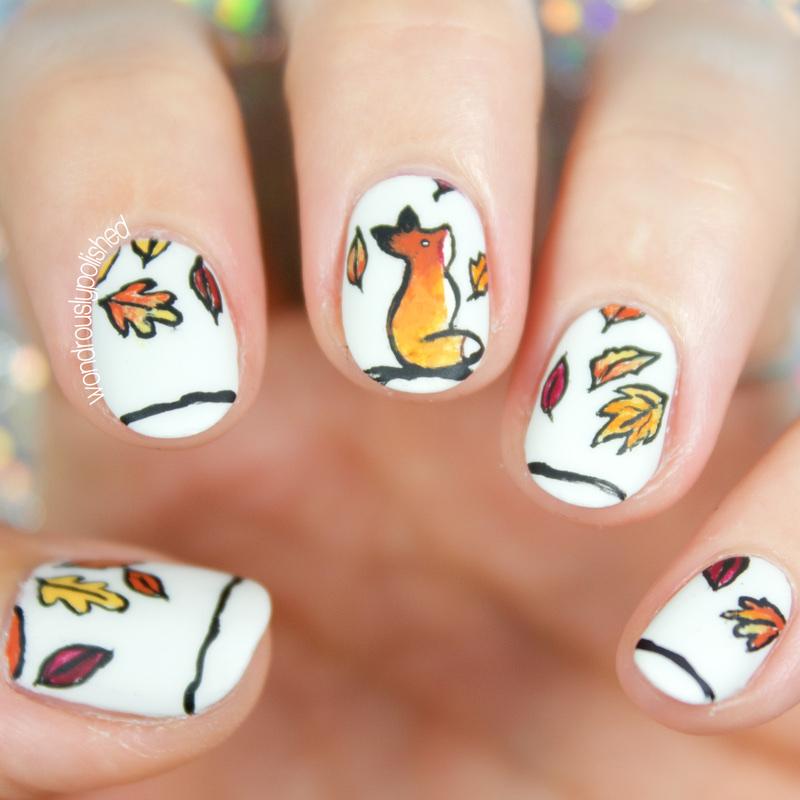Fox Nail Designs: Wondrously Polished: The Digital Dozen Does Autumn