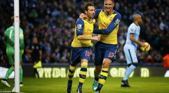 Arsenal Hancurkan City 2-0 di kandangnya Sendiri
