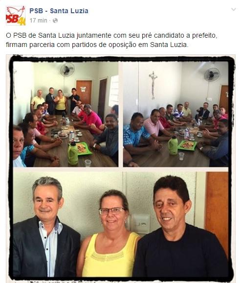 PSB que elegeu Calixto, Pastora Dirce e sandro se alia com oposição e lança candidato a Prefeito
