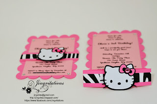 hello kitty zebra leopard invitations