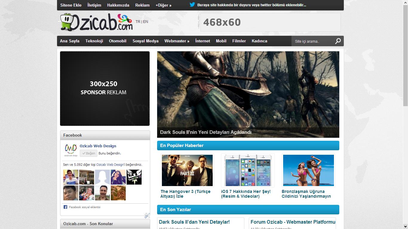 Ozicab Premium Blogger Teması
