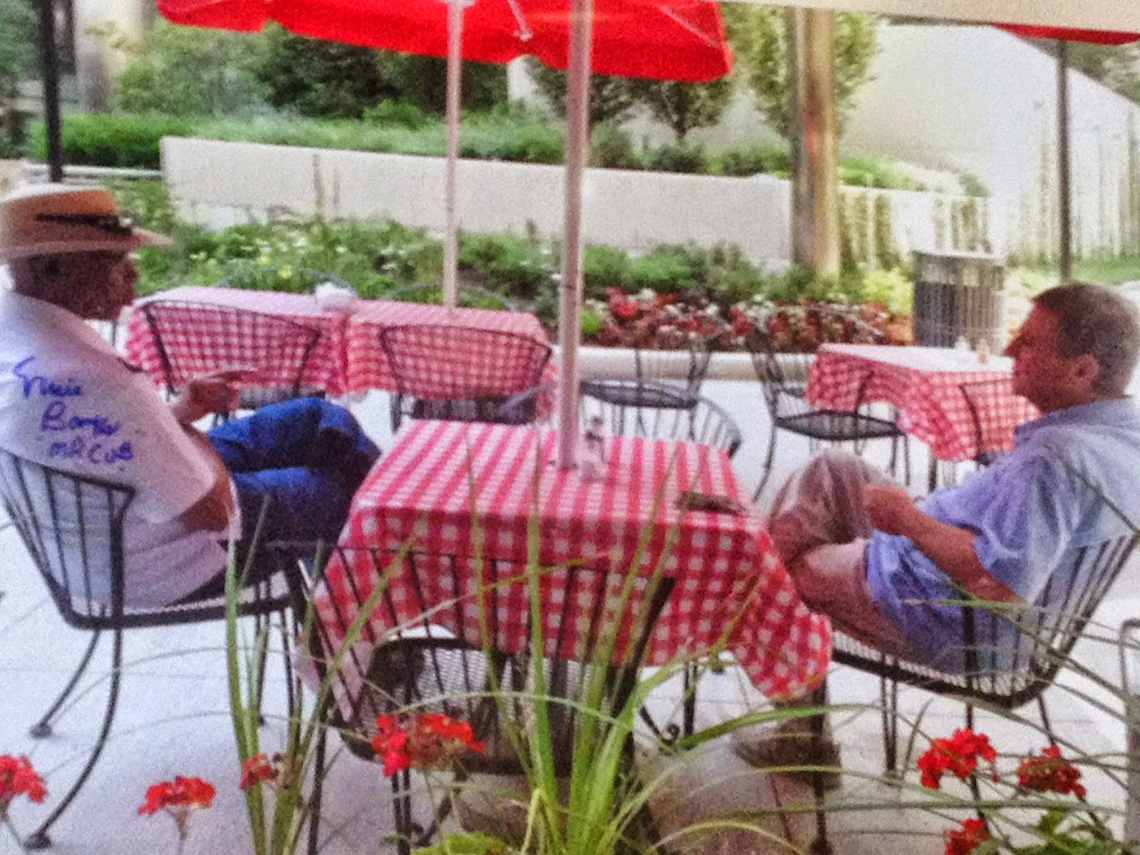 Ernie Banks and Tom Bongiorno on the Terrace