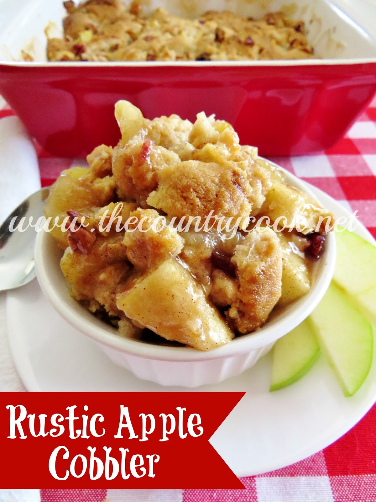 Rustic Apple Cobbler - The Country Cook