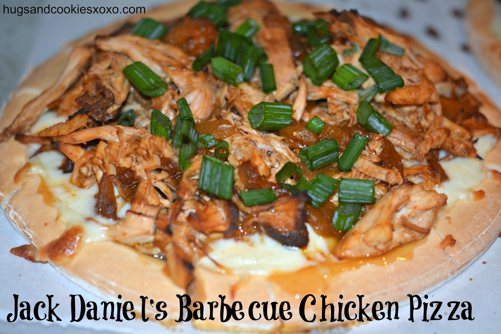 Jack daniels barbecue chicken pizza hugs and cookies xoxo have leftover chicken from this awesome jack daniels chicken recipe whip up a barbecue chicken pizza use any crust you like i used udis gluten free forumfinder Images