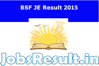 BSF JE Result 2015