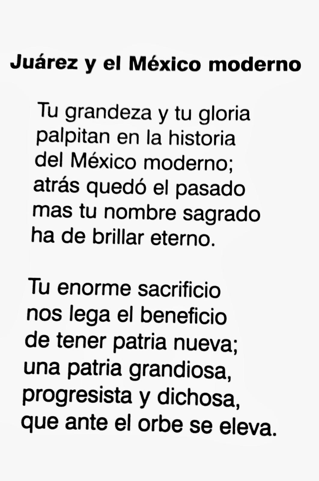Poesía a Juarez y el México moderno