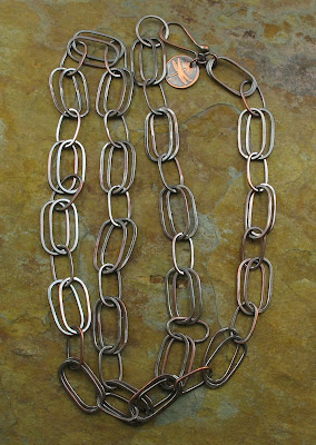 copper oval link chain by Libellula Jewelry