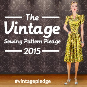 The Vintage Sewing Pattern Pledge 2015