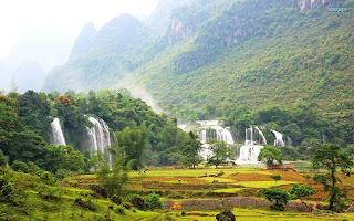 Detian falls air terjun detian china